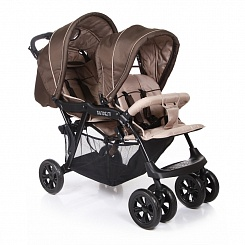Коляска для двойни Tandem (Baby Care, BC002_Brown/Grey)