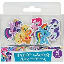 Набор свечей на палочках My Little Pony, 5 штук (Росмэн, 33012ros)