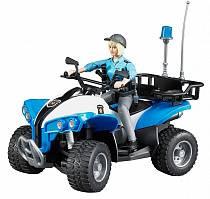 Полицейский квадроцикл с фигуркой (Bruder, 63-010)