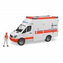 Bruder Mercedes-Benz Sprinter скорая помощь с фигуркой водителя (Bruder, 02-536)