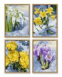 Весеннее пробуждение цветов - 4 картины для раскрашивания, 18х24см. (Schipper, 9340713)