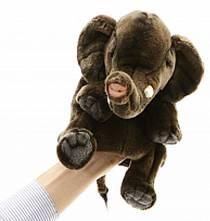 Игрушка на руку - Слон, 24 см (Hansa, 4040)