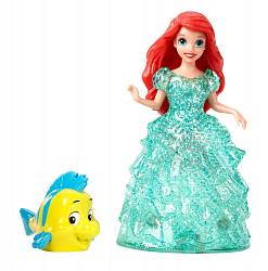 Кукла на колесиках из серии Disney Princess - Ариэль и Флаундер (Mattel, BJF22-BDK11) - миниатюра