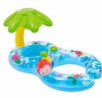Плот надувной для детей - Пальма, с навесом, 116 х 74 см. (Intex, int56590NP)