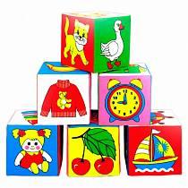 Набор из 6 кубиков «Предметы» (Мякиши, 001 МЯКИШИsim)