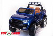 Электромобиль – Ford Ranger 2017 New 4x4, синий, свет и звук (Toyland, F650 C)