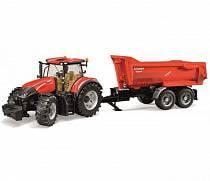 Трактор Bruder Case IH Optum 300 CVX с прицепом Krampe Tandem-Halfpipe (Bruder, 03-199)