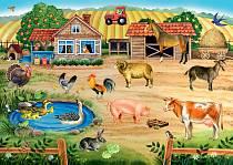 Напольный пазл - Ферма (Step Puzzle, 70103sim)