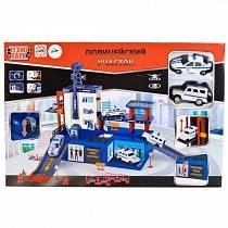Полицейский участок с двумя металлическими машинками (Технопарк, 92086P-Rsim)