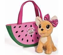 Плюшевая собачка Chi-Chi love - Фруктовая мода, с сумочкой, 18 см (Simba, 5893116)