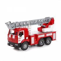 Инерционная пожарная машина – Камаз, со светом и звуком (Технопарк, WY296K)
