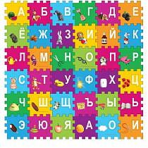 Коврик-пазл «Маша и медведь» с вырезанными буквами (Играем вместе, FS-ABC-03-Mmsim)