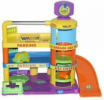 Гараж Беби с автомобилями, 3 уровня + лифт (Полесье, п-40381)