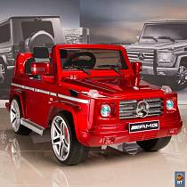 Электромобиль DMD-G55 Mercedes-Benz AMG New Version,  red с резиновыми колесами (RT, 5036RT)
