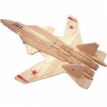 Модель деревянная сборная - Палубный истребитель (Wooden Toys, P155)