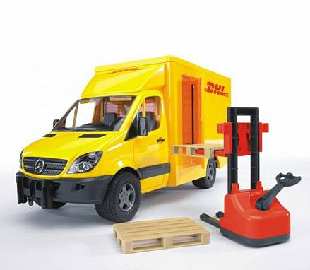 Машина DHL Mercedes Benz  Sprinter с погрузчиком