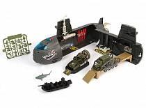 Набор: Нано-Армия - Подводная лодка с наполнением, звук, свет (Chap Mei, 524052)