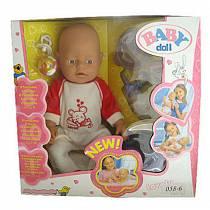 Функциональный пупс Baby Doll, пьет, писает, сосет соску (Shantou Gepai, B1407520 (8)