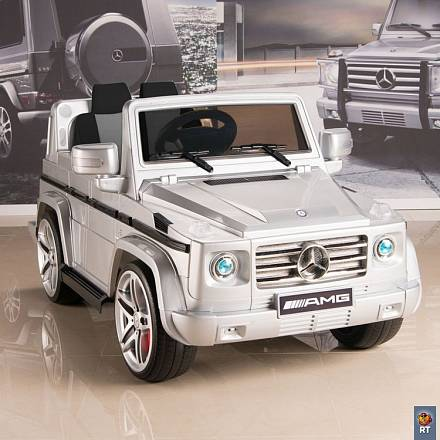 Электромобиль DMD-G55 Mercedes-Benz AMG NEW Version 12V R/C silver с резиновыми колесами