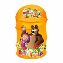 Корзина для игрушек «Маша и медведь» (Играем <em>мягкая</em> вместе, XDP-1792-Rsim)