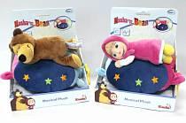 Музыкальная плюшевая подушка «Маша и Медведь», 2 вида (Simba, 9301114)
