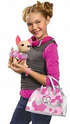 Плюшевая собачка Чихуахуа. Розовый камуфляж (Simba, 5890597)