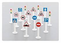 Набор дорожных знаков №1, 16 элементов (Полесье, п-64196)