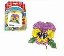 Набор для изготовления цветка из бисера - Анютина фиалка (Клевер, АА05-609)