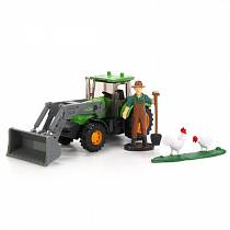 Трактор металлический - 1:64 – 13 см (Технопарк, U1407B-1sim)