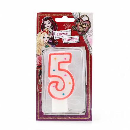 Свеча-цифра «5» - Ever After High