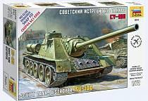 Модель сборная - Советская САУ СУ-100 (Звезда, 5044з)
