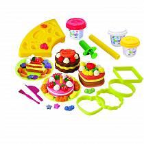 Набор с пластилином – Пирожные (Playgo, Play 8586veg)