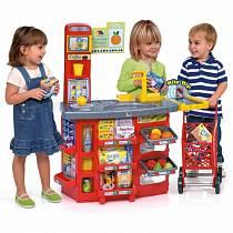 Игровой супермаркет звуковой с тележкой, 17 предметов (Molto, M 12186veg)