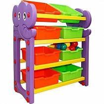Стеллаж для хранения игрушек, 4 секции (Happy Box, JM-809A)