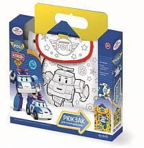 Сумка - рюкзак для раскрашивания «Робокар» с внутренним карманом (Origami, 02230-OR)