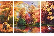 Большая раскраска по номерам. Триптих. Осень (Schipper, 9260650)