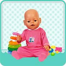 Комплект одежды для куклы: ползунки и кофта, размер 40 – 42 см. (Карапуз, OTF-43-RU-HKsim)