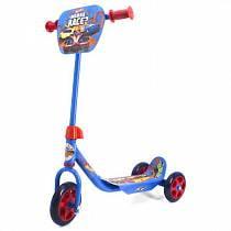 Трехколесный самокат – Hot Wheels, колеса 14,5 и 12 см, голубой (006HWSsim)