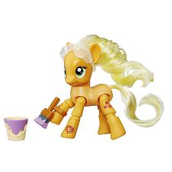 Фигурка из серии My Little Pony Explore Equestria - Рисующая Эпплджек, 8 см. (Hasbro, b8022-b3598) - миниатюра