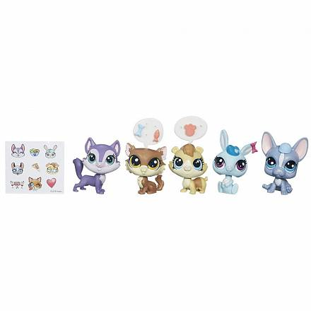 Littlest Pet Shop. Набор - Обед в Даунтауне, серия Pets in the City