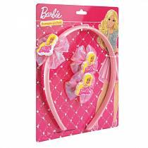 Аксессуары для волос «Барби»: ободок и резинки (Играем вместе, SET-BB-01sim)