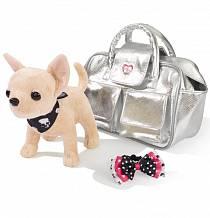 Игровой набор с плюшевой собачкой Гламур, с серебристой сумочкой (Simba, 5895104)