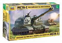 Модель сборная - Российская самоходная 152-мм артиллерийская установка Мста-С (Звезда, 3630з)