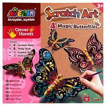 Набор для гравировки Волшебные бабочки, с картонными заготовками бабочек и декором (Avenir, CH1318)