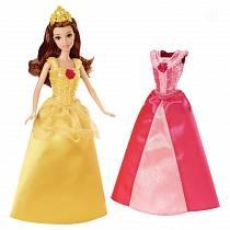 Кукла Белль с дополнительным платьем MagiClip, 28 см. (Mattel, x9359-x9357)