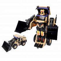 Робот на радиоуправлении, трансформируется в экскаватор, со светом и звуком, 38 см. (Solmar, Т10600)
