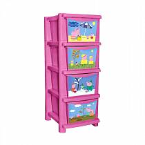Комод для детской комнаты Обучайка - Свинка Пеппа, розовый (Littel Angel, LA0704РР)
