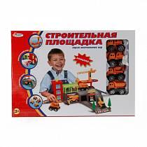 Строительная площадка с 4-мя машинами и аксессуарами (Играем вместе, B924601-Rsim)