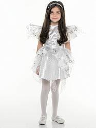 Карнавальный костюм – Снежинка Серебряная, размер 28 (Батик, 8044-28)