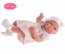 Кукла-младенец Оливия <em>двойняшки мальчик и девочка открытка</em> в розовом, 42 см. (Antonio Juan Munecas, 5052P)